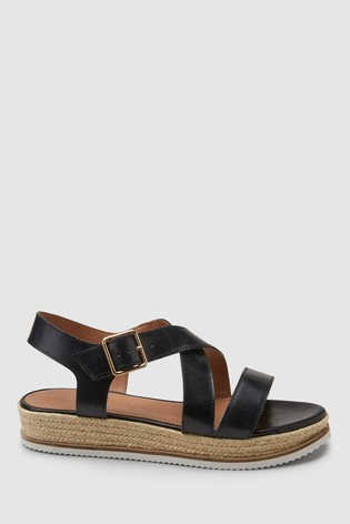 450aa778a20 Buy Black Flatform Sandals from the Next UK online shop