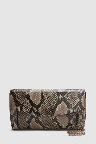 cd23e4d27a Buy Snake Effect Envelope Clutch Bag from the Next UK online shop