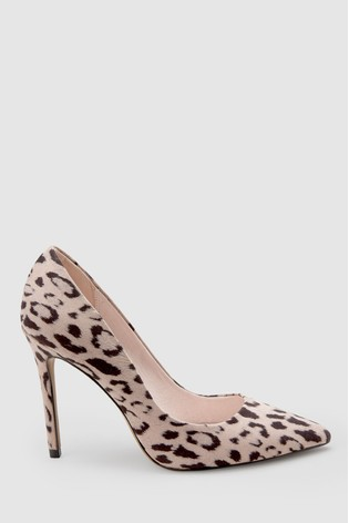 1df7ed9c9fee Buy Blush Leopard Forever Comfort® Point Court Shoes from Next Czech ...