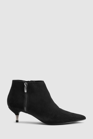 e2e050babc4 Buy Black Kitten Heel Ankle Boots from the Next UK online shop