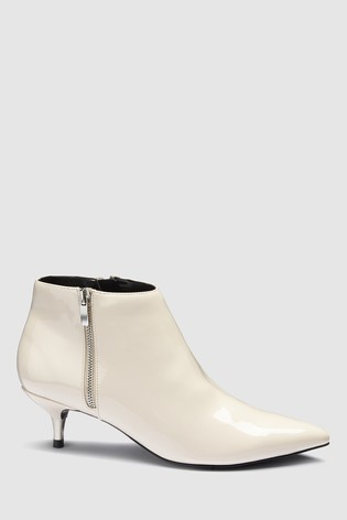 7846b73e5b9 Buy White Patent Kitten Heel Ankle Boots from the Next UK online shop