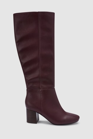f24c2c94942512 Buy Burgundy Block Heel Knee High Boots from Next Germany
