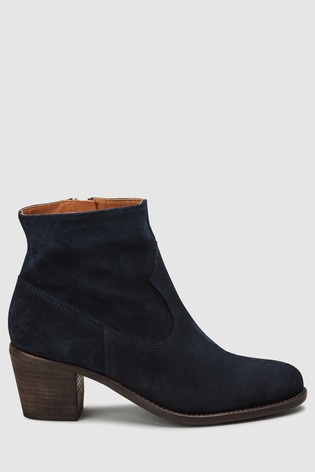 443ffbd41478d Buy Navy Suede Western Ankle Boots from the Next UK online shop