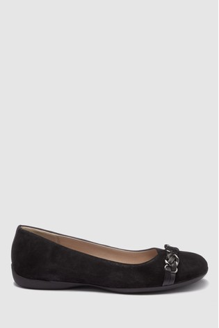 b9c80ab8cf50b Buy Black Suede Forever Comfort® Chain Ballerinas from the Next UK ...