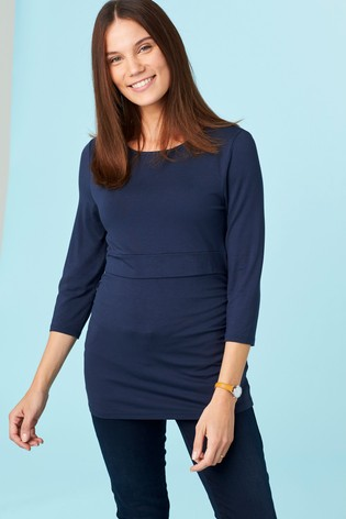 4a320a30cbafd Buy Navy Maternity Nursing Top from the Next UK online shop