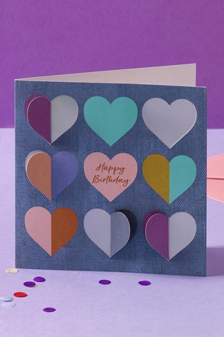 Buy Heart Birthday Card From The Next UK Online Shop