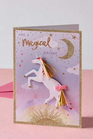 Buy Unicorn Birthday Card From The Next UK Online Shop