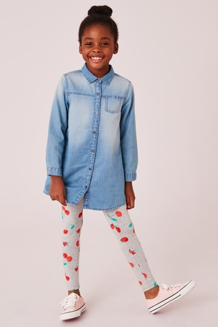 Acheter Grey Marl Strawberry Printed Leggings (3-16 ans) from Next ... 41c57ef13c4