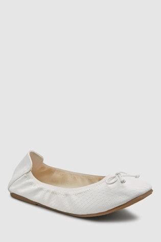 ebd72f9c71f0 Buy White Flexi Ballet Shoes (Older) from Next Lebanon