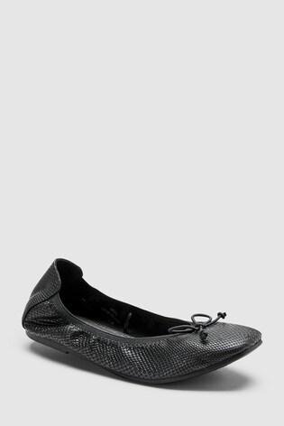217864676fb1 Buy Black Flexi Ballet Shoes (Older) from the Next UK online shop