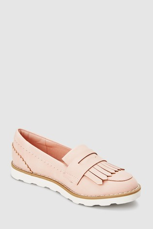 18f4643567a Buy Pink Chunky Fringe Loafers (Older) from the Next UK online shop