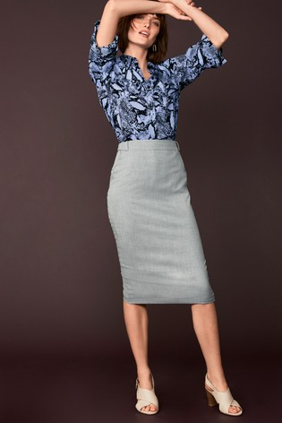 1a3b5b0ec72df Buy Grey Tailored Fit Suit  Pencil Skirt from Next New Zealand