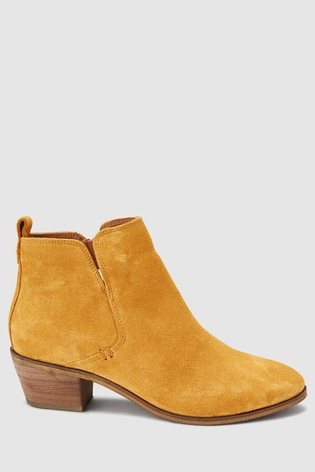 Buy Ochre Side Cut Western Ankle Boots from the Next UK online shop 52286c965
