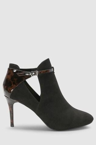 270303b76ad Buy Black Tortoiseshell Effect Forever Comfort Open Side Boots from ...