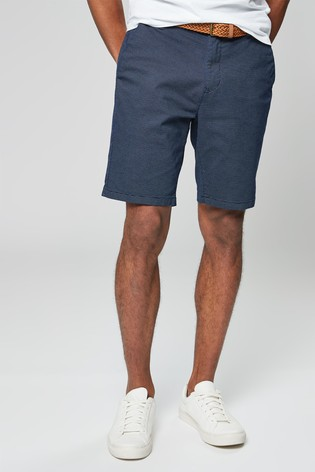 35566f15eb4aab Buy Navy Ditsy Print Belted Chino Shorts from the Next UK online shop