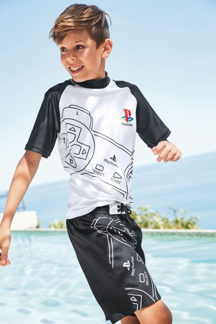 0611afb32 Buy Black Playstation™ Swim Shorts (3-12yrs) from the Next UK online ...