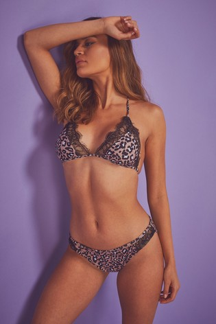 8a52daec585 Buy Wolf & Whistle Leopard Triangle Bikini Top from the Next UK ...