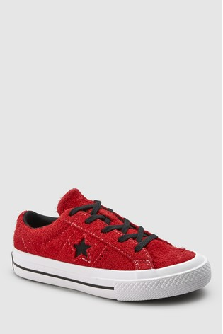 Buy Converse Red Black One Star Youth from Next Ireland cd5bc8f6bd2d
