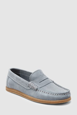e36abe1b1ce Buy Grey Italian Suede Penny Loafers (Older) from the Next UK online ...