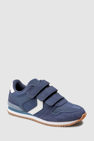 3bc9a50fe423 Buy Navy Triple Strap Trainers (Older) from the Next UK online shop