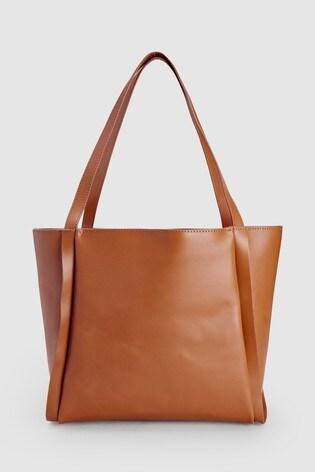 347859492 اشتر حقيبة تسوق كبيرة جلد بني فاتح من Next السعودية
