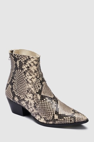 a2437986cef Buy Steve Madden Natural Snake Cafe Ankle Boot from Next Ireland