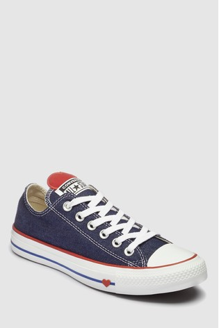 unequal in performance wholesale price enjoy best price Buy Converse Navy Heart Chuck Low Trainer from Next Portugal