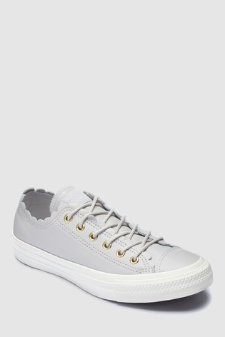 ec01b45539f2 Buy Converse Leather Frill Ox Trainer from the Next UK online shop