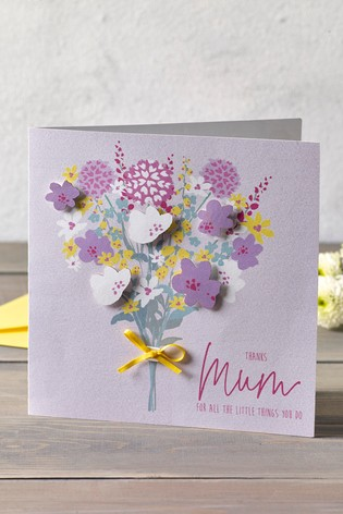 Mothers Day Bouquet Card