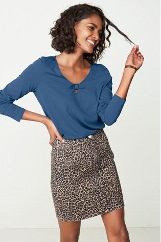 d783e5b0d633 Buy Animal Print Co-ord Denim Skirt from the Next UK online shop