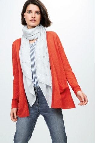 ecee9e694472 Buy Orange Linen Mix Cardigan from the Next UK online shop