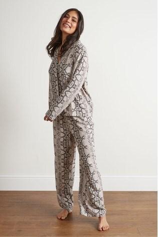 e52058090311 Buy Snake Print Button Through Pyjamas from the Next UK online shop