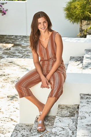 c496d026939c Buy Rust Stripe Jumpsuit from Next Ireland
