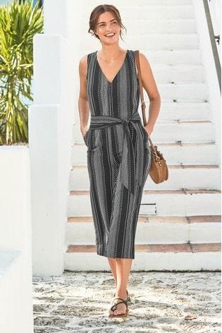 6fa3e2cbfa2 Buy Black Stripe Jumpsuit from the Next UK online shop