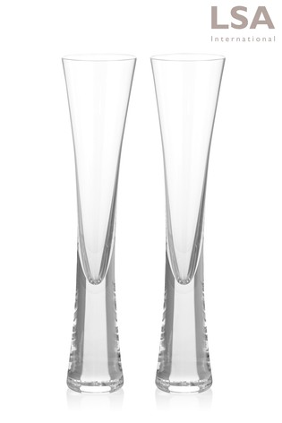 Buy Set Of 2 Lsa International Moya Champagne Flutes From The Next