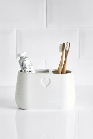 Heart Toothbrush Tidy by Next