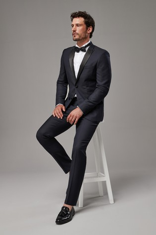 1c6f003a28 Buy Navy Signature Tuxedo Suit: Taped Trousers from Next Hong Kong