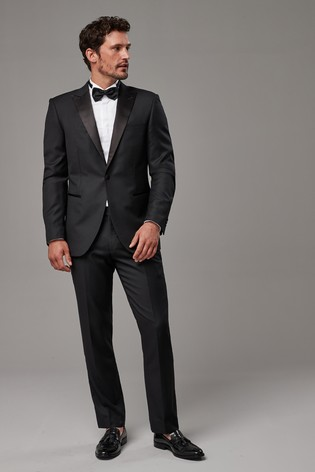 1bc30629cd4 Buy Black Tailored Fit Cerruti Signature Tuxedo Suit: Jacket from ...