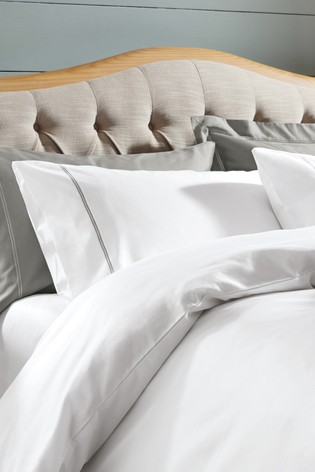 White Set Of 2 600 Thread Count Cotton Sateen Collection Luxe Pillowcases