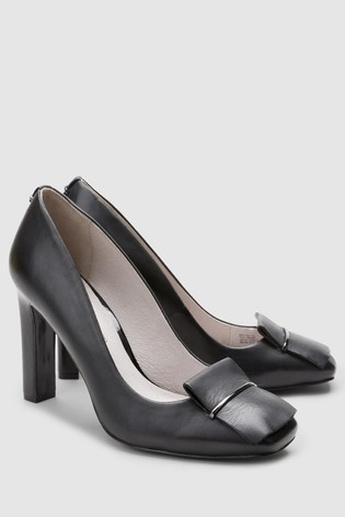 ccec8ab3cf2d Buy Black Leather Square Toe Court Shoes from Next Slovakia