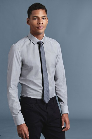 a467e82c0e4 Buy Light Grey Regular Fit Single Cuff Tonic Shirt And Tie Set from ...