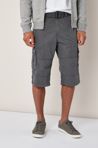 f8901a1486 Buy Charcoal Belted Longer Cargo Shorts from Next Lebanon