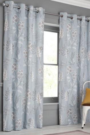 Spring Garden Print Eyelet Curtains ...