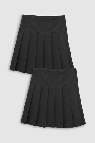 502085323e2e from Next Slovakia Buy Black Long Pleated Skirt Two Pack (3 – 16 rok.)