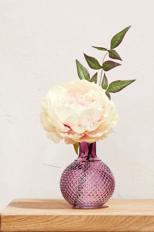 Buy Peony In Pressed Glass Vase From Next Usa