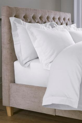 White 300 Thread Count Cotton Waffle Bed Set