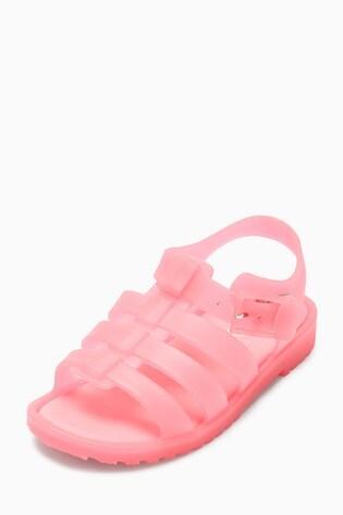 ada44121c3 from Next Slovakia Buy Pink Jelly Fisherman Sandals (Mladší)