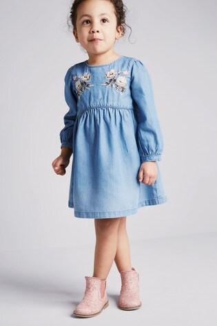 5e99d3517ea41 Buy Pink Floral Chelsea Boots (Enfant) from Next Belgium