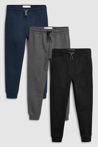 ae940d917 Buy Navy Charcoal Black Joggers Three Pack (3-16yrs) from Next Cyprus