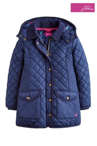 Buy Joules Navy Newdale Hooded Quilted Jacket From The Next Uk